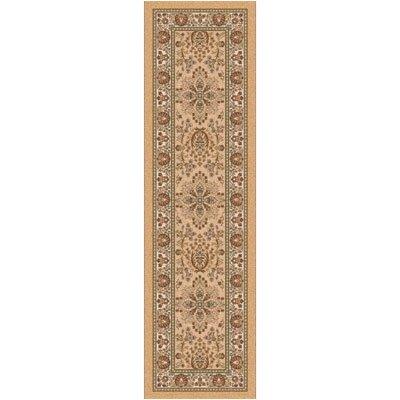 Pastiche Halkara Gold Runner Rug Size: 21 x 78