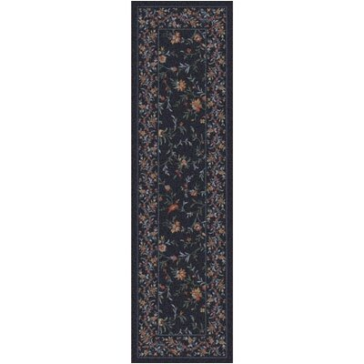Pastiche Hampshire Floral Ebony Runner Rug Size: 21 x 78