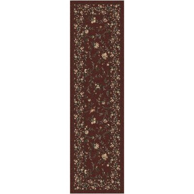 Pastiche Hampshire Floral Rust Runner Rug Size: 21 x 78