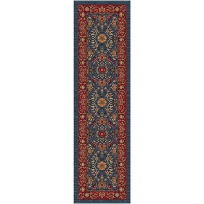 Pastiche Kamil Blue Grey Runner Rug Size: 21 x 78
