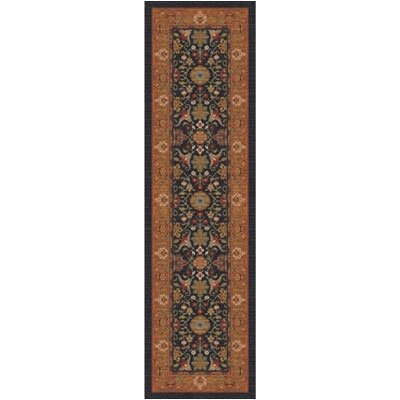 Pastiche Kamil Ebony Runner Rug Size: 21 x 78