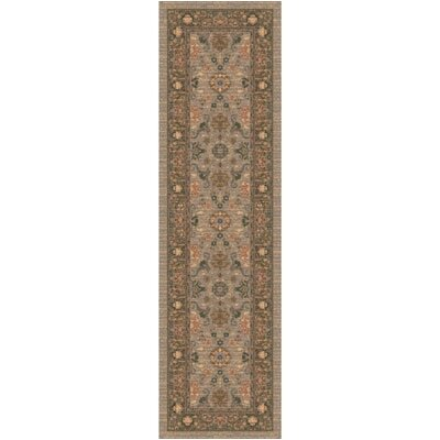 Pastiche Kamil Hillcrest Sage Folk/Tribal Runner Rug Size: 21 x 78