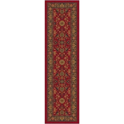 Pastiche Kamil Red Cinnamon Runner Rug Size: Rectangle 21 x 78