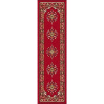 Pastiche Merkez Currant Red Runner Rug Size: 21 x 78