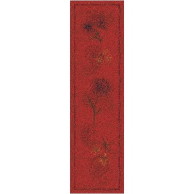 Pastiche Vintage Aurora Red Runner Rug Size: Rectangle 21 x 78