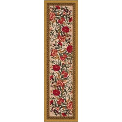 Pastiche Barrington Court Floral Curry Runner Rug Size: 21 x 78