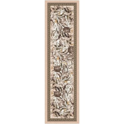 Pastiche Barrington Court Floral Ecru Runner Rug Size: 21 x 78