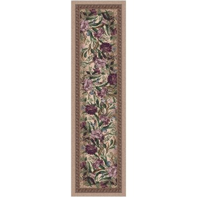 Pastiche Barrington Court Floral Heathered Rose Runner Rug Size: 21 x 78