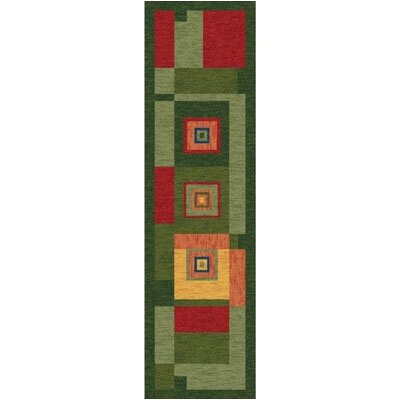 Pastiche Bloques Fiji Contemporary Runner Rug Size: 21 x 78