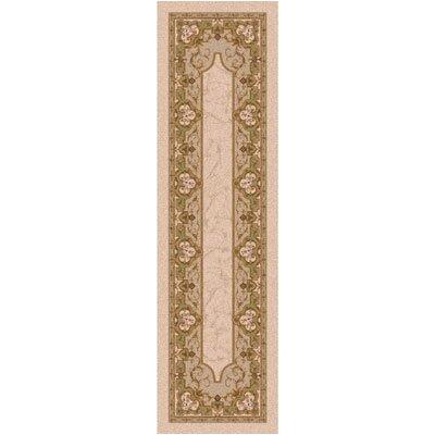 Pastiche Montfluer Ecru Runner Rug Size: 21 x 78