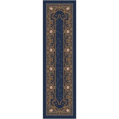 Pastiche Montfluer Phantom Blue Runner Rug Size: 21 x 78