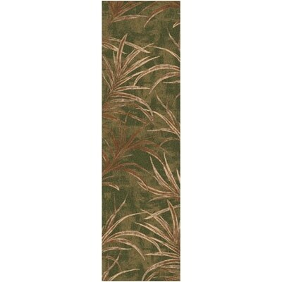 Pastiche Rain Forest Deep Olive Runner Rug Size: 21 x 78