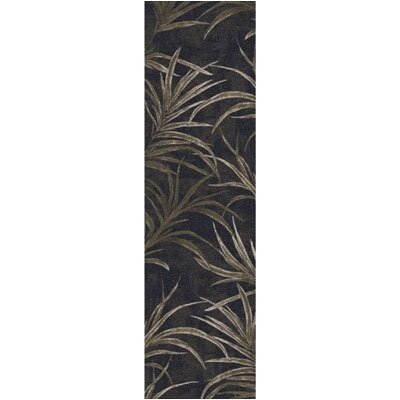 Pastiche Rain Forest Ebony Runner Rug Size: 21 x 78