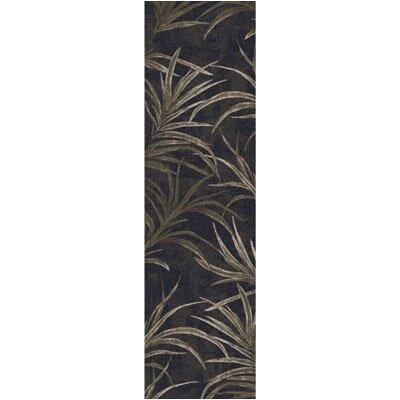 Pastiche Rain Forest Ebony Runner Rug Size: 21 x 78