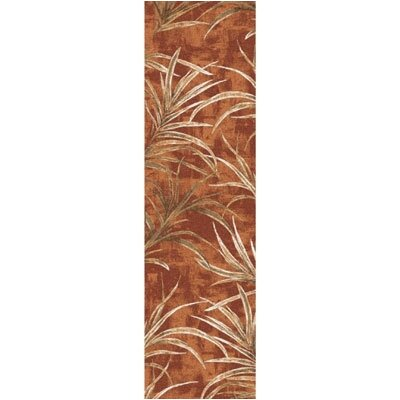 Pastiche Rain Forest Fall Orange Runner Rug Size: 21 x 78