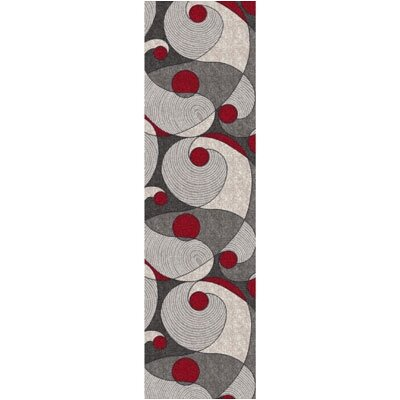 Pastiche Remous Ebony Contemporary Runner Rug Size: 21 x 78