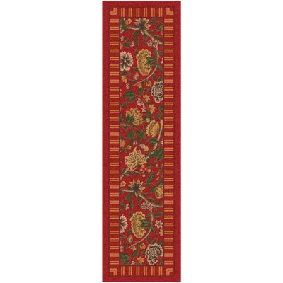 Pastiche Vachell Indian Red Runner Rug Size: 21 x 78