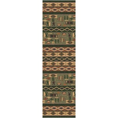 Pastiche Wide Ruins Autumn Forest Runner Rug Size: 21 x 78