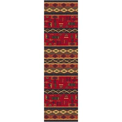 Pastiche Wide Ruins Ebony Runner Rug Size: 21 x 78