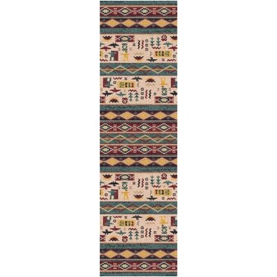 Pastiche Wide Ruins Hazy Forest Runner Rug Size: 21 x 78