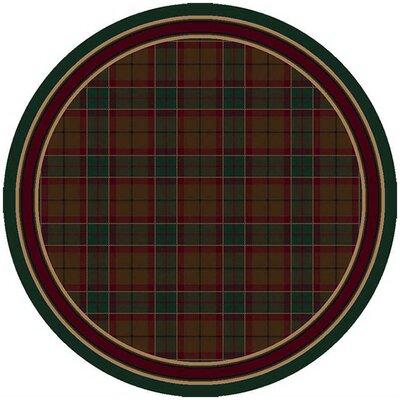 Signature Magee Tartan Emerald Area Rug Rug Size: Round 77