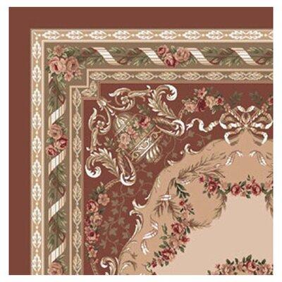 Pastiche Kashmiran Marquette Red Clay Area Rug Rug Size: Square 77