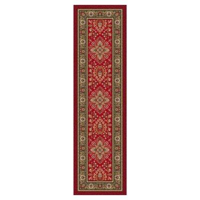 Pastiche Halkara Red Cinnamon Runner Rug Size: 21 x 78