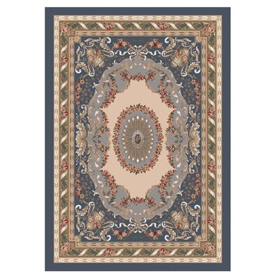 Pastiche Kashmiran Marquette Pewter Area Rug Rug Size: Rectangle 109 x 132