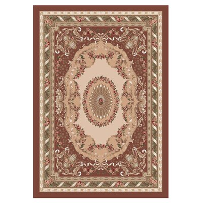 Pastiche Kashmiran Marquette Red Clay Area Rug Rug Size: Rectangle 78 x 109