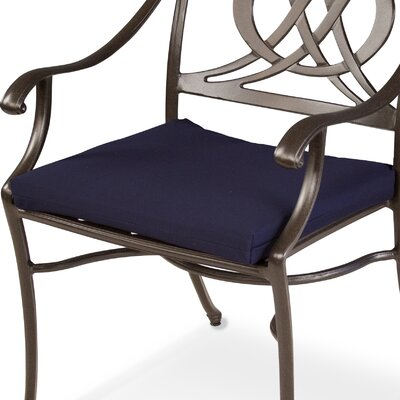 "Ateeva Rocker and Dining Chair Seat Cushion - Fabric: Navy, Size: 19"" x 17"" at Sears.com"
