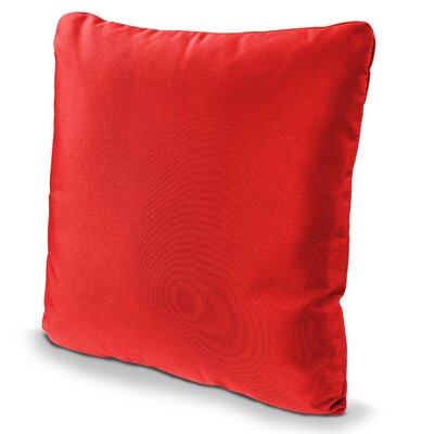 Outdoor Sunbrella Throw Pillow Size: 20 x 20, Fabric: Logo Red