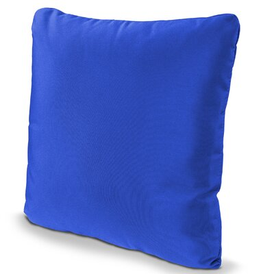 Outdoor Sunbrella Throw Pillow Fabric: Pacific Blue, Size: 16 x 16