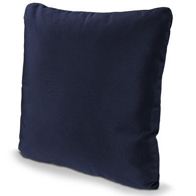Outdoor Sunbrella Throw Pillow Fabric: Navy, Size: 16 x 16