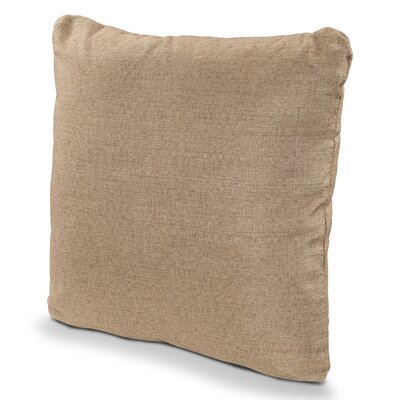 Outdoor Sunbrella Throw Pillow Fabric: Sesame, Size: 16 x 16