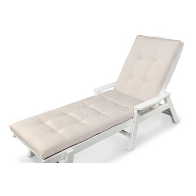 Luxe� Outdoor Chaise Lounge Cushion Size: 22 W x 74 D, Fabric: Birds Eye