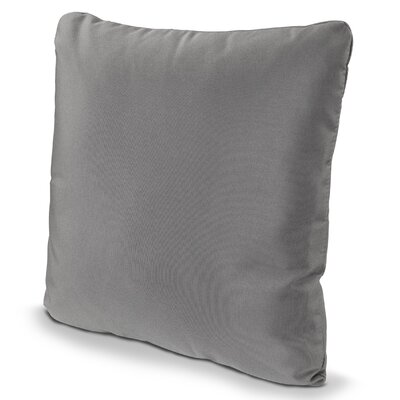 Outdoor Sunbrella Throw Pillow Size: 20 x 20, Fabric: Charcoal