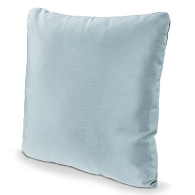 Outdoor Sunbrella Throw Pillow Fabric: Spa, Size: 20 x 20