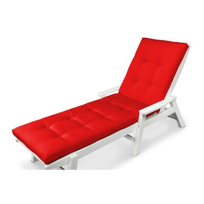 Luxe� Outdoor Chaise Lounge Cushion Size: 22 W x 74 D, Fabric: Logo Red