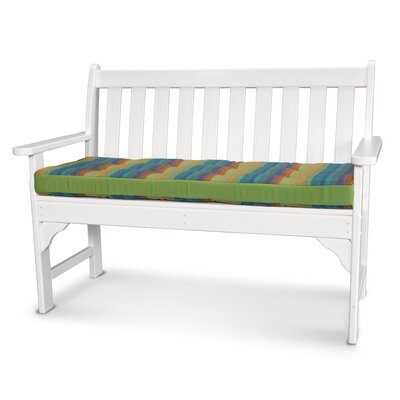 Luxe� Outdoor Sunbrella Bench Cushion Size: 53 W x 14 D, Fabric: Astoria Lagoon