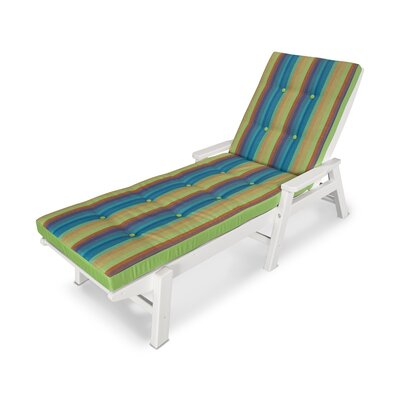 Luxe� Outdoor Chaise Lounge Cushion Size: 22 W x 72 D, Fabric: Astoria Lagoon