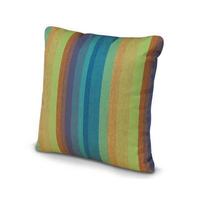 Outdoor Sunbrella Throw Pillow Size: 16 x 16, Fabric: Astoria Lagoon
