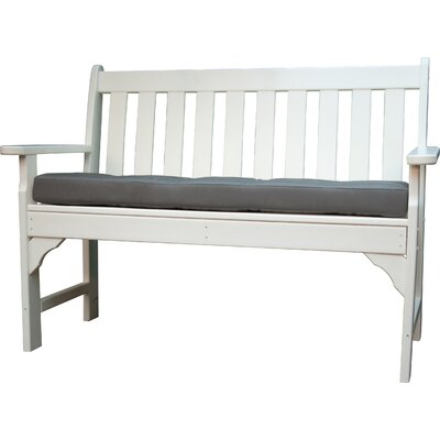 Luxe Outdoor Sunbrella Bench Cushion Size: 56 W x 18 D, Fabric: Charcoal