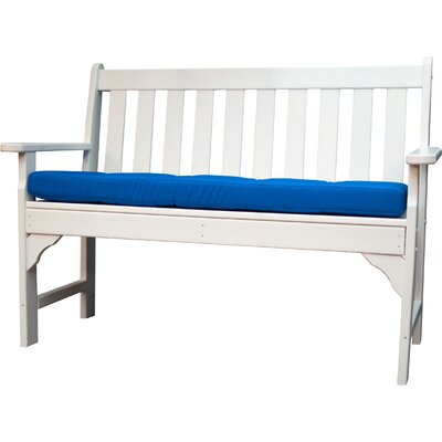 Luxe� Outdoor Sunbrella Bench Cushion Size: 56 W x 18 D, Fabric: Pacific Blue