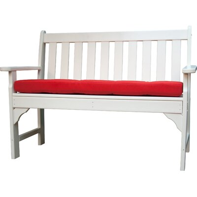 Luxe� Outdoor Sunbrella Bench Cushion Size: 45 W x 18 D, Fabric: Logo Red