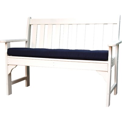 Luxe� Outdoor Sunbrella Bench Cushion Fabric: Navy, Size: 43 W x 14 D