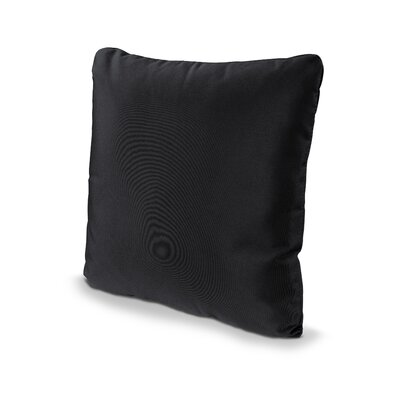 Outdoor Sunbrella Throw Pillow Fabric: Black, Size: 20 x 20