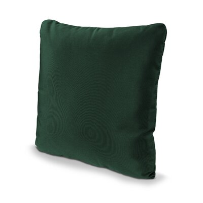 Outdoor Sunbrella Throw Pillow Fabric: Forest Green, Size: 16 x 16