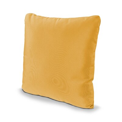 Outdoor Sunbrella Throw Pillow Size: 16 x 16, Fabric: Sunflower Yellow