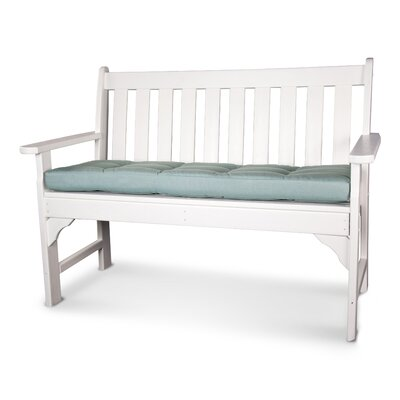 Luxe� Outdoor Sunbrella Bench Cushion Size: 53 W x 14 D, Fabric: Spa
