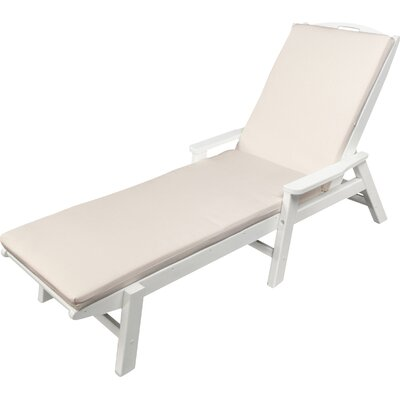 Outdoor Sunbrella Chaise Lounge Cushion Size: 22 W x 74 D, Fabric: Birds Eye